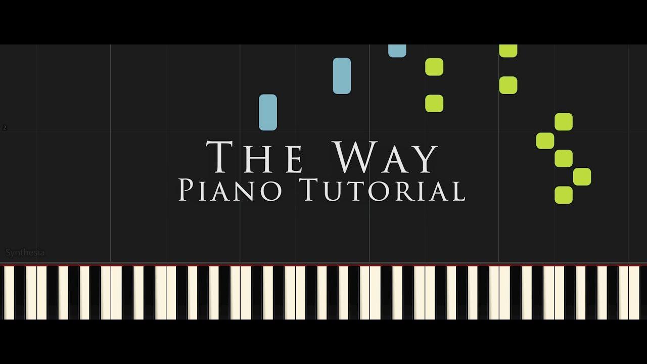 Florian Bur The Way Official Piano Tutorial