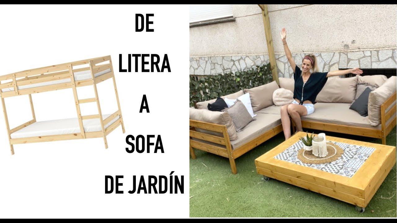 Download TRANSFORMACIÓN de LITERA a SOFA LOUNGE JARDÍN   CHILL OUT   #DIY muebles Jardín