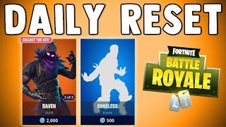 FORTNITE DAILY SKIN RESET - RAVEN SKIN IS BACK!! Fortnite Battle Royale Nouveaux articles dans la boutique d'objets