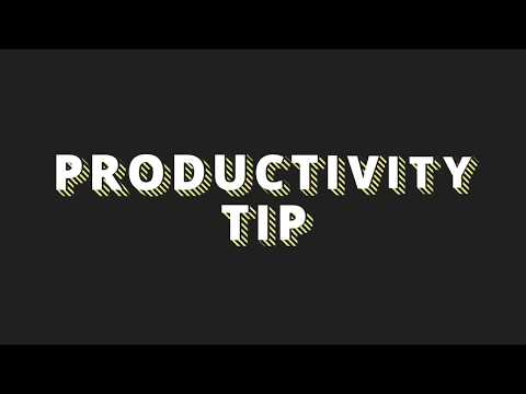 SIMPLIFY. - PRODUCTIVITY TIP #6