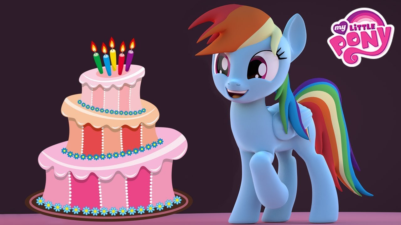 Make Birthday Cake Cooking Game With My Little Pony Rainbow Dash
