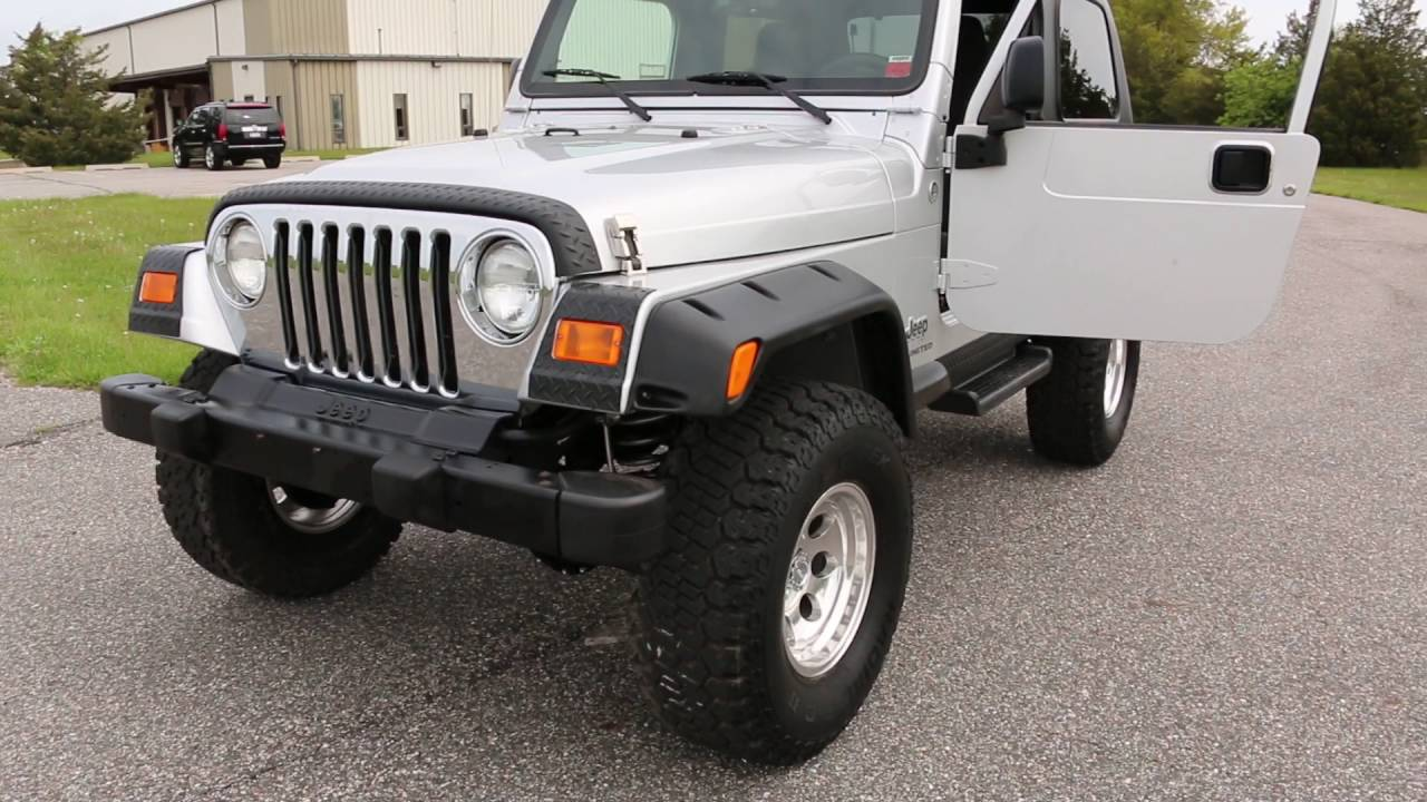 review and test drive 2005 lifted jeep wrangler unlimited lj lwb 3 5 suspension lift hard top. Black Bedroom Furniture Sets. Home Design Ideas