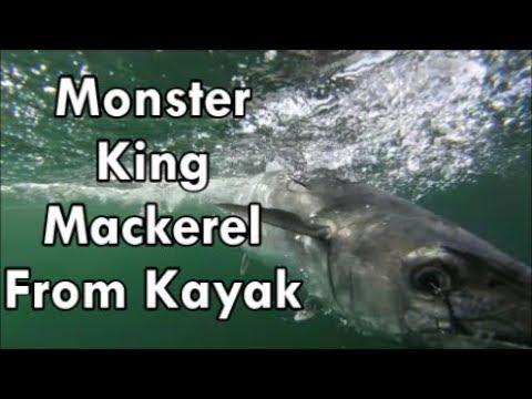 Kayak Fishing Offshore- Big King mackerel and Drag Screamers!