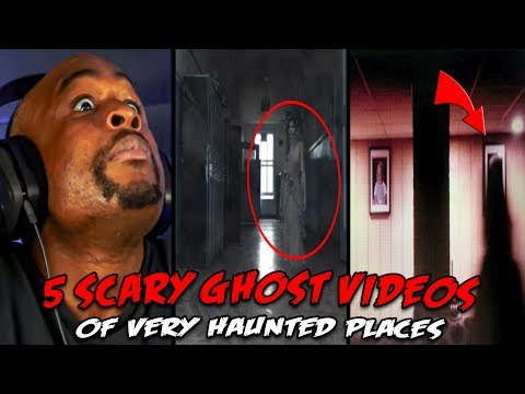 5 Scary Ghost Videos Of VERY Haunted Places REACTION!