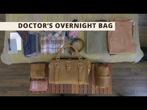 Doctors Overnight Bag What It Fits Saddleback Leather Co