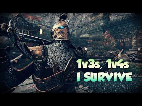 [For Honor] BUFFED Warden 1v3, 1v4 DESTROYING GANKS - Reworked Warden Gameplay |