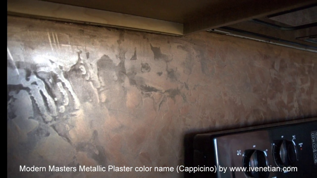 Modern Masters Metallic Plaster Video Close Ups Youtube