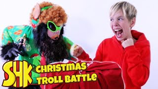 Christmas WWE Troll Battle | SuperHeroKids