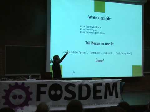 FOSDEM 2014 - Introducing The Meson Build System