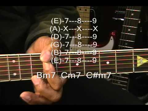 Toto Style Guitar Chord Form Tutorial 133 Maj7 Min7 Chords Lesson F