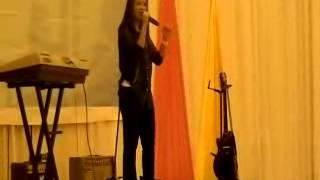 Aku ada kamu - Adira, singing performance by Tiffany at Cosmopoint KK Convocation 2013