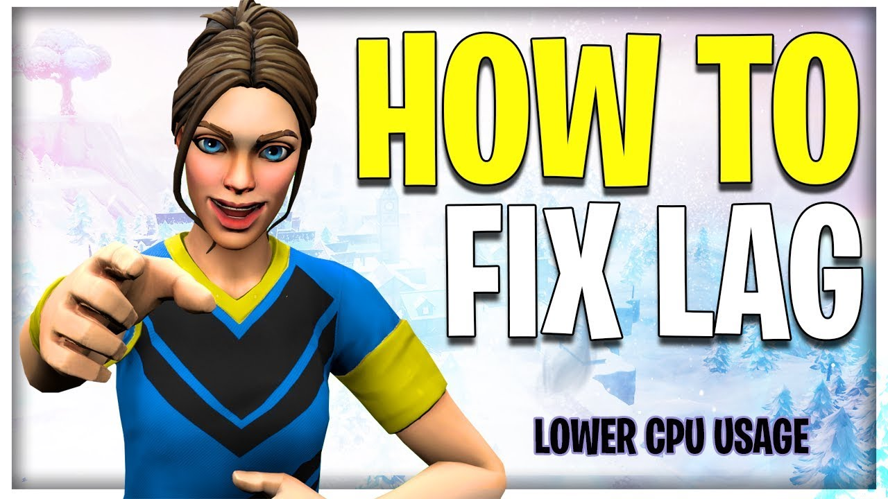 HOW TO BOOST FPS/LOWER CPU USAGE *EASY* IN FORTNITE (SEASON 8)