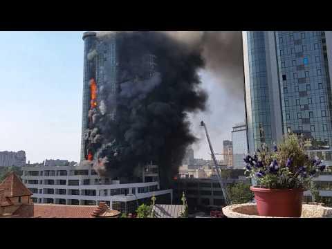 29.08.15 Одесса.Как горела 'Гагарин Плаза',ч.15