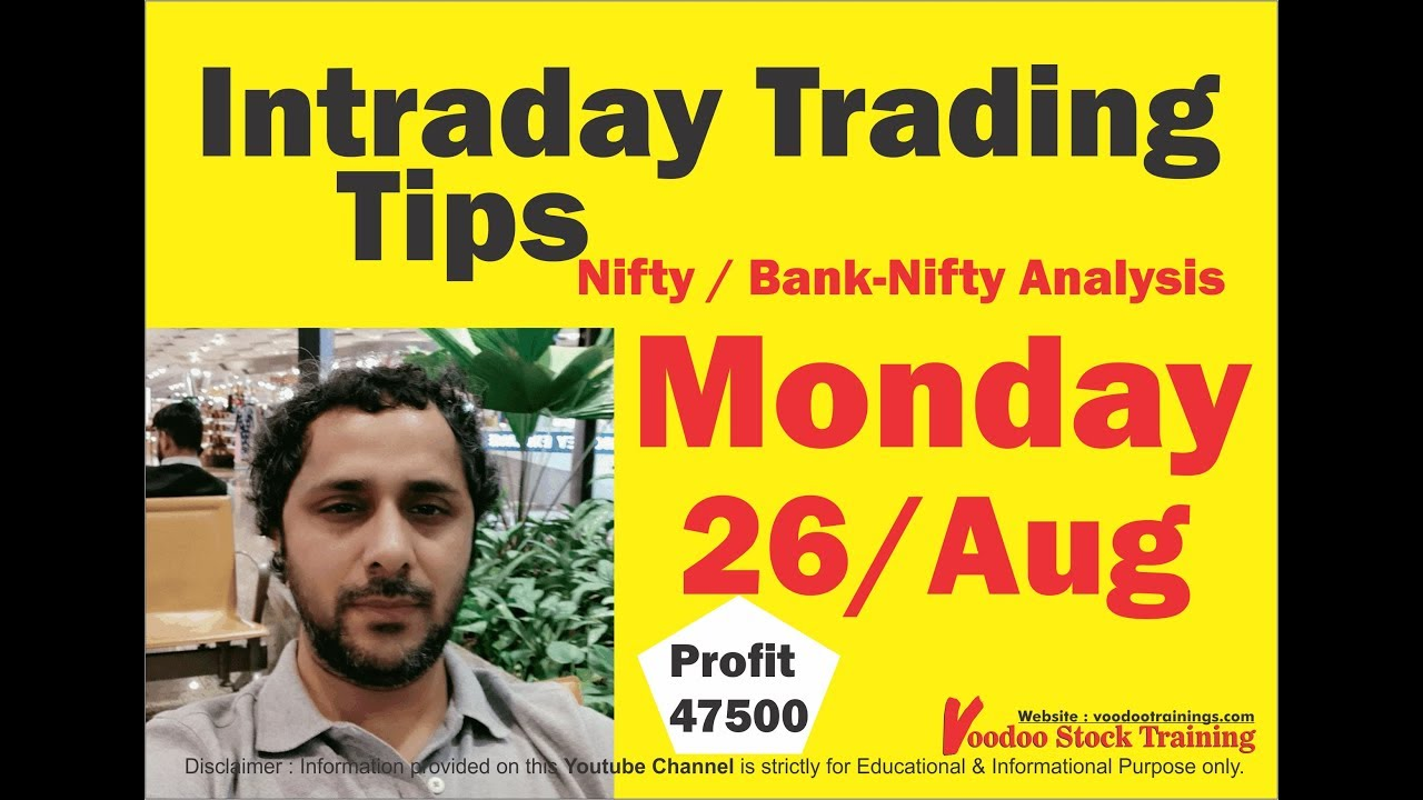 Intraday Jackpot's for 26 Aug 2019 | Free Intraday Tips