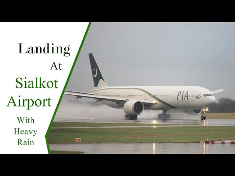 Landing At Sialkot International Airport
