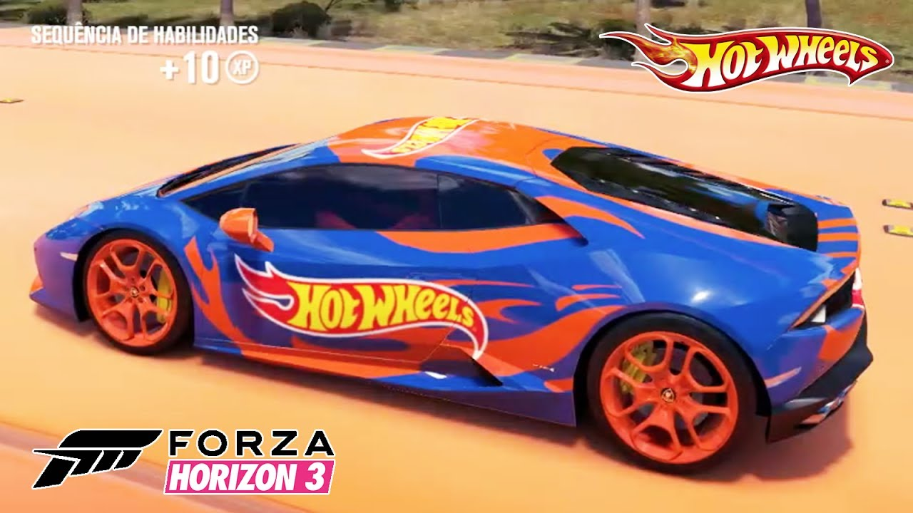 Hot Wheels Lamborghini Hurac 225 N Lp 610 4 2014 Forza Horizon 3 Pc Youtube