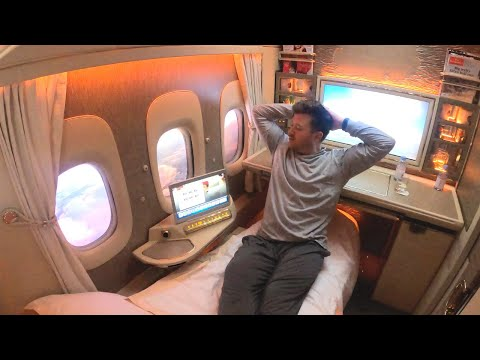 EMIRATES NEW PRIVATE FIRST CLASS to MYSELF **World's Best Flight**
