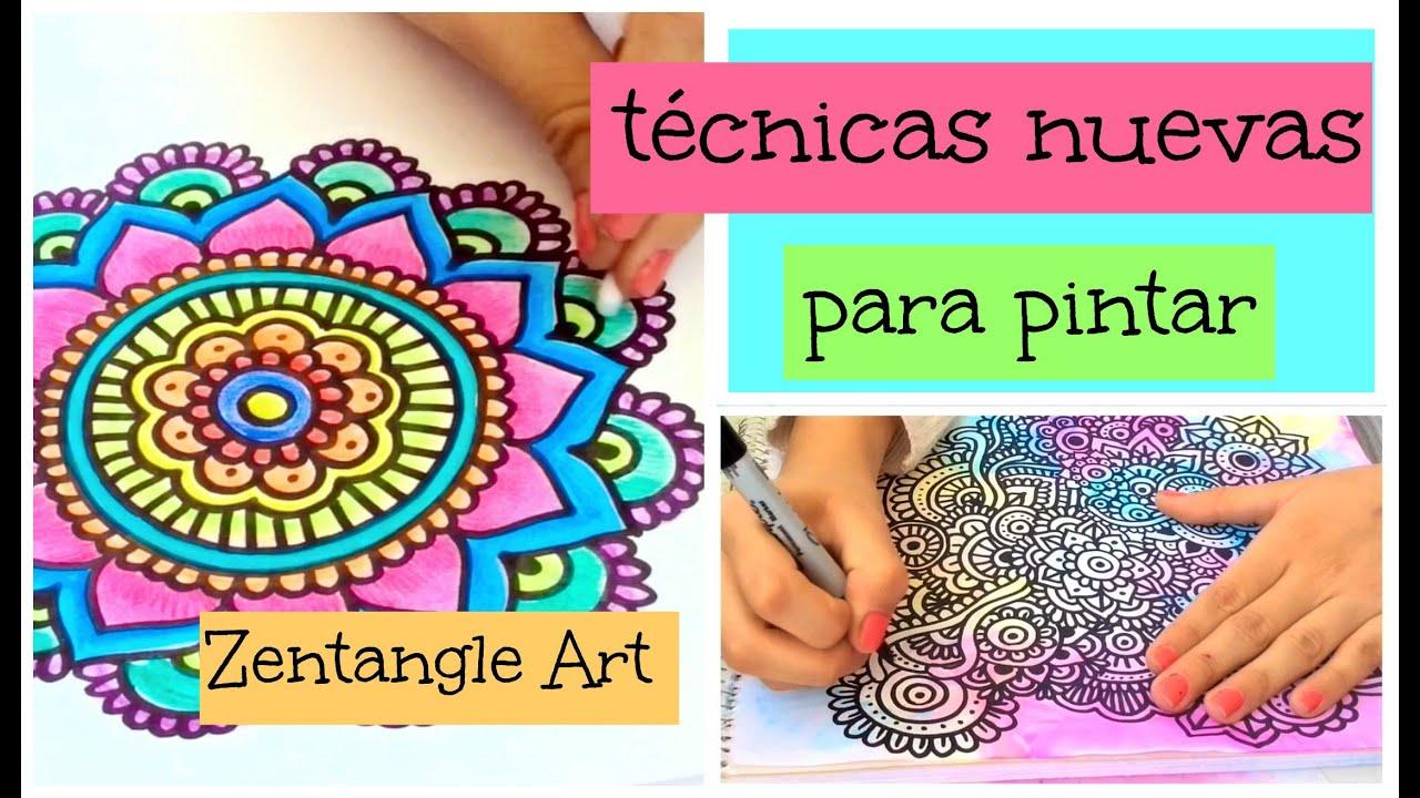 T cnicas para pintar zentangle art diy youtube - Tecnicas para pintar una habitacion ...
