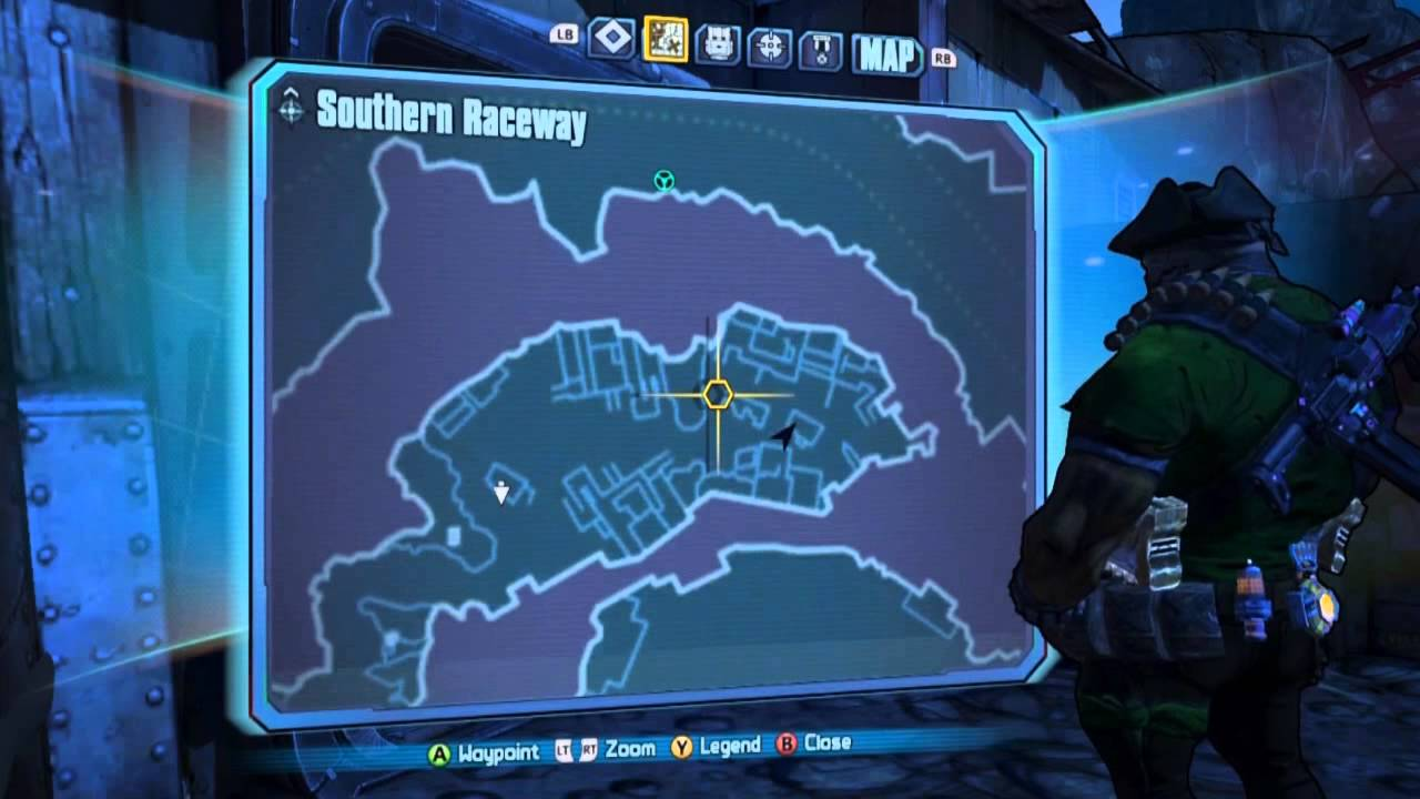 Borderlands 2 All Southern Raceway Vault Symbols Locations Guide