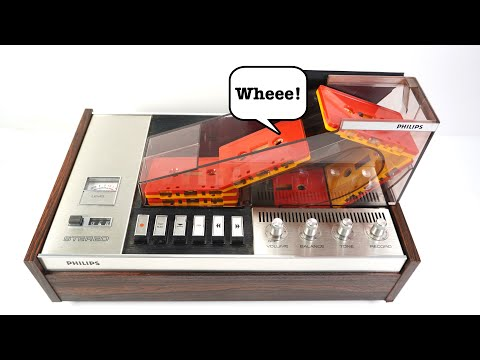 Philips crazy Ski Slope Cassette Deck - Techmoan
