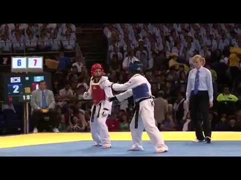 Sujeong Lim VS Euda Carias round1 La Liga Mundial de Taekwondo. World Taekwondo Tour, 2009.