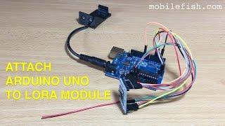 Create a LoRa node, part 5: Attach Arduino Uno to the LoRa module