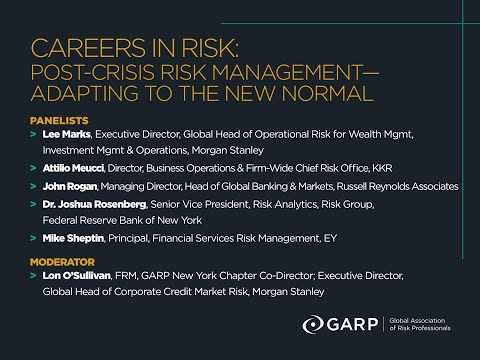 Careers In Risk Ny Garp Chapter Meeting