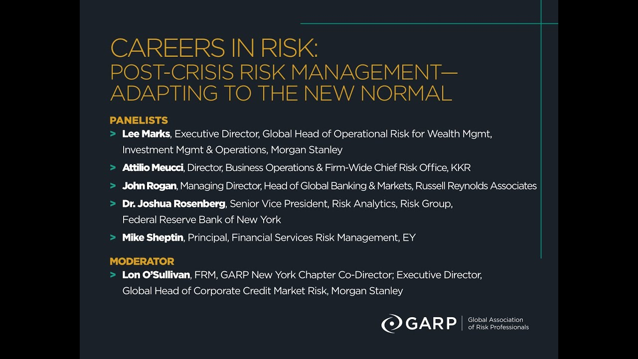 2014 Careers in Risk NY GARP Chapter Meeting