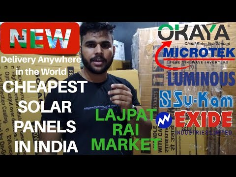 Buy cheapest solar panels and solar products from Lajpat Rai Market Delhi | 2019 | Shashank Is Here