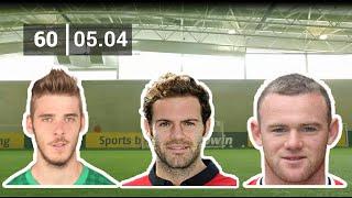 Rooney, Mata, De Gea With Corner Kick Challenge