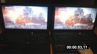 MSATA SSD vs HDD 7200rpm BF4 MSI 2QF Leopard pro