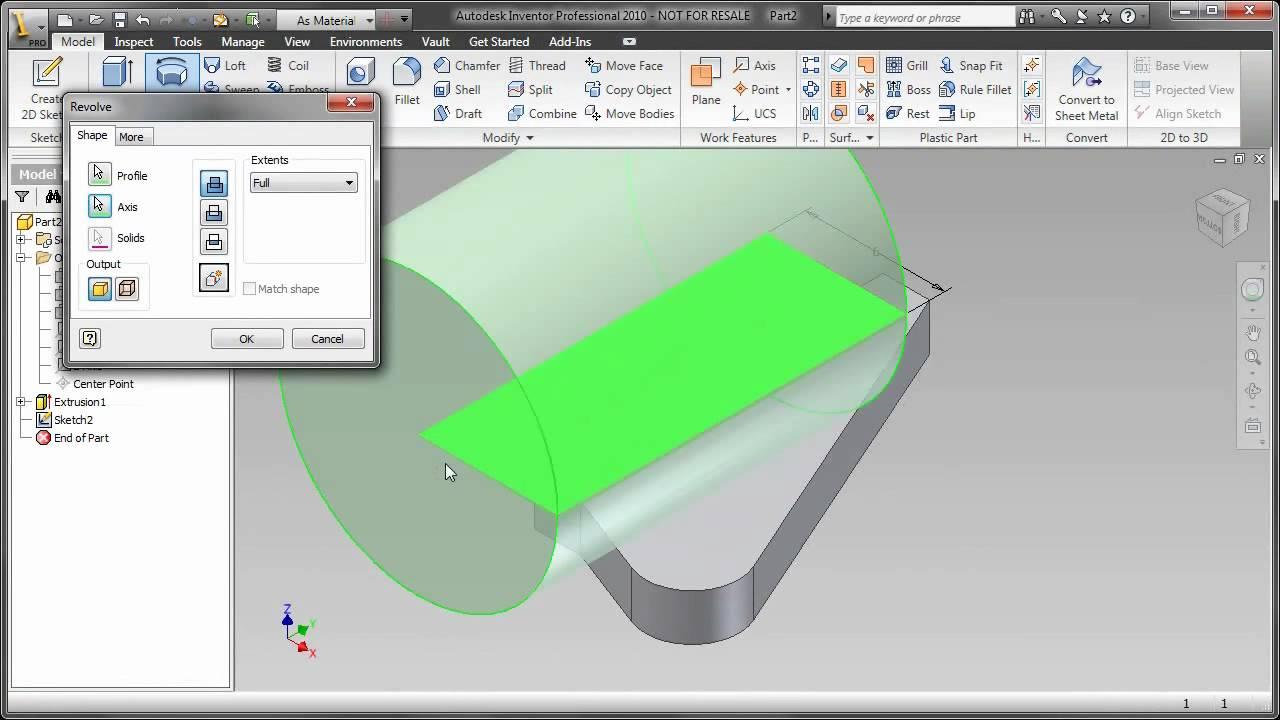 autodesk inventor tutorial series 3d basics youtube rh youtube com Inventor 2010 Tutorials Inventor 2009