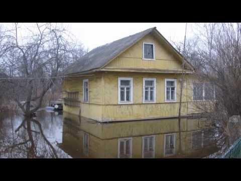 Наводнение в пос.Ульяновка Ленинградской области Тосненского района.