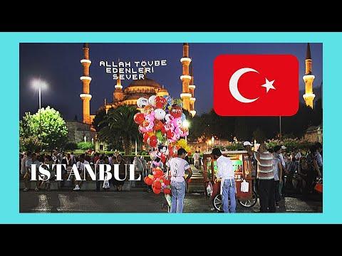 ISTANBUL, celebrating the Iftar RAMADAN DINNER at SULTANAHMET SQUARE, TURKEY