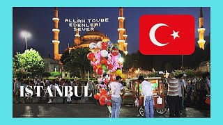 ISTANBUL, celebrating the Iftar RAMADAN DINNER at SULTANAHMET SQUARE, TURKEY