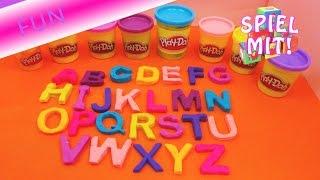 ABC lernen mit Knete / Play Doh Knete Alphabet lernen für Kinder Demo   deutsch