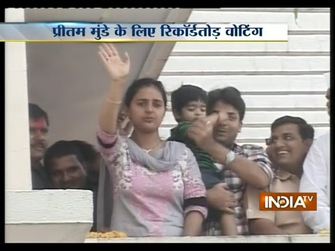 Beed LS by-poll: Pritam Munde Breaks All Records Of Victory Margins - India TV