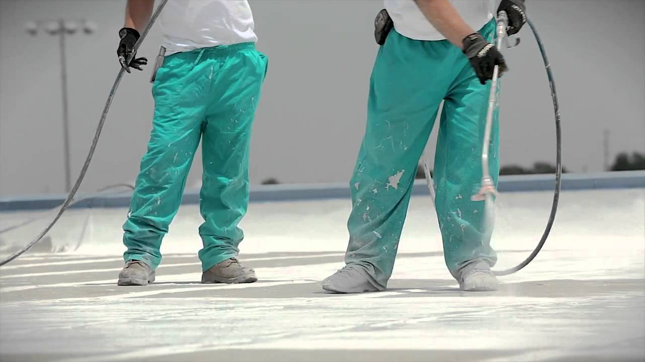 How to spray a roof coating Base Coat & How to spray a roof coating Base Coat - YouTube memphite.com