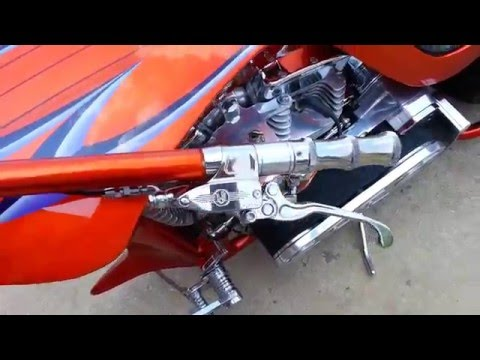 Bad ass chopper 360 rear idling