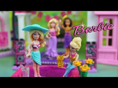 Кукла Барби  и ее друзья Мега Блокс игры для девочек Kikityki