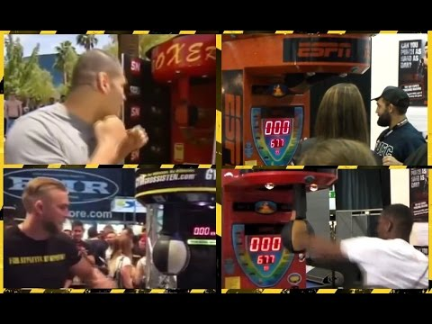 Thumbnail: UFC fighters vs Boxing machine !
