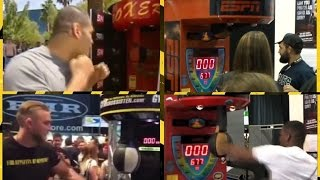 UFC fighters vs Boxing machine !