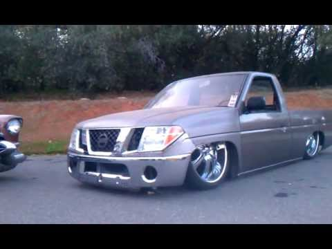 Bodydropped Hardbody On 24s With 08 Frontier Clip Youtube