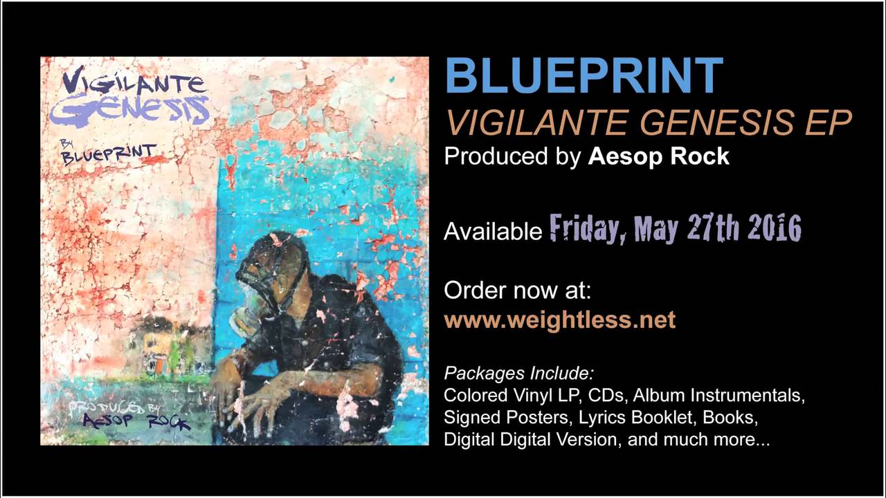 Blueprint vigilante genesis prod aesop rock album stream youtube malvernweather