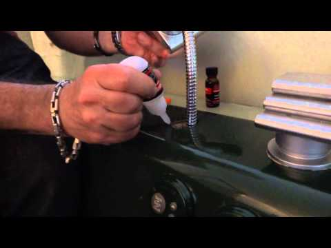 HOW TO FIX JACUZZI PLASTIC TO METAL WITH BLACK BULL GLUE