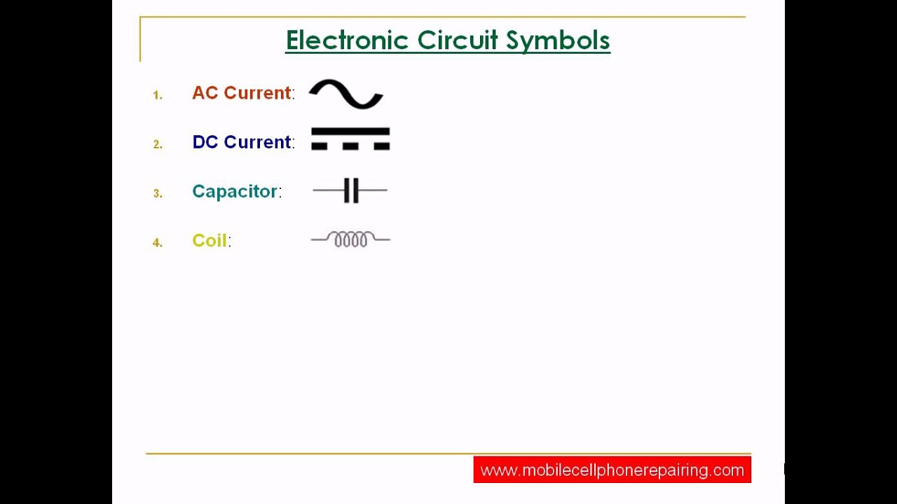 Circuit Symbols of Electronic Components - YouTube