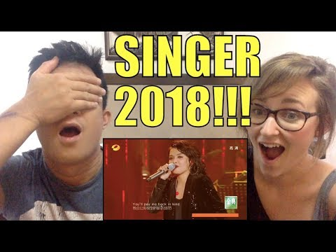 KZ Tandingan Belts Rolling in the Deep   China Singer 2018 High Definition REACTION