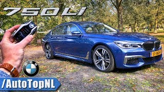 Rolls Royce Blue BMW 7 Series 750Li M Sport REVIEW POV Test Drive on AUTOBAHN ROAD by AutoTopNL