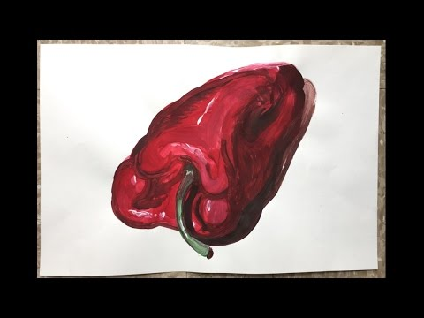 Complementary Acrylic Color Painting Demo