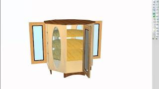 Octagonal Cabinet Designed With Polyboard
